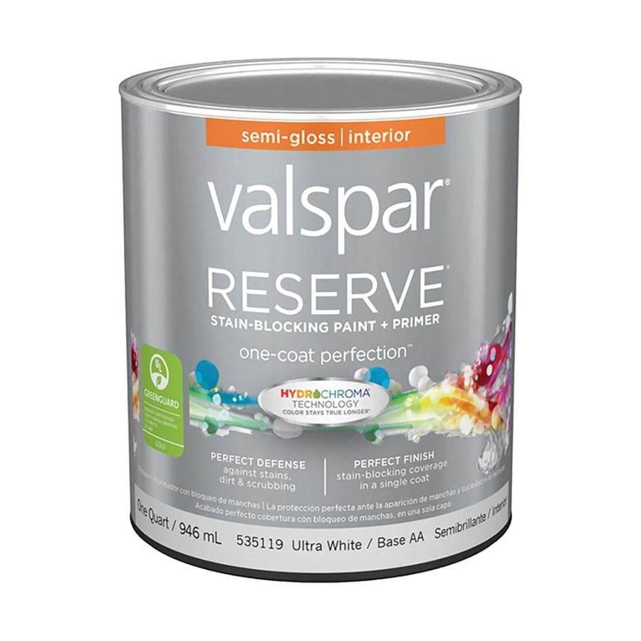 Valspar Reserve Ultra White/Base AA Semi-Gloss Latex Interior Paint and Primer in One (Actual Net Contents: 32-fl oz)