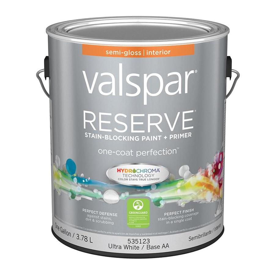 Valspar Reserve Semi-Gloss Latex Interior Paint and Primer in One (Actual Net Contents: 128-fl oz)