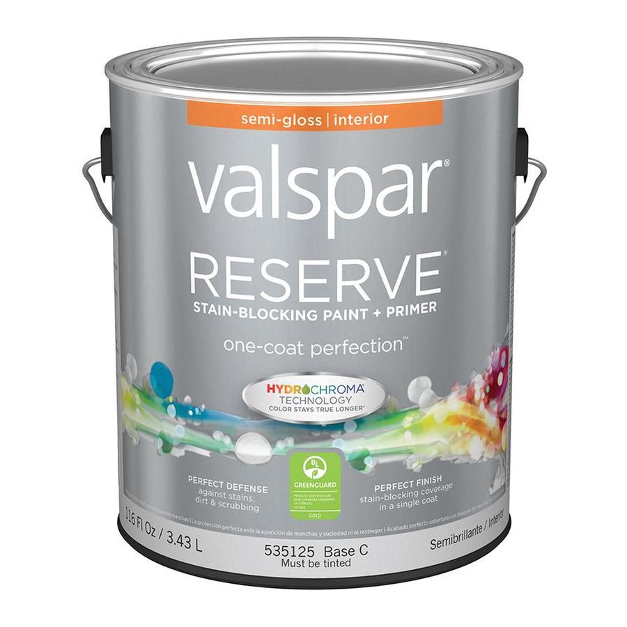 Shop Valspar Reserve Semi Gloss Latex Interior Paint And