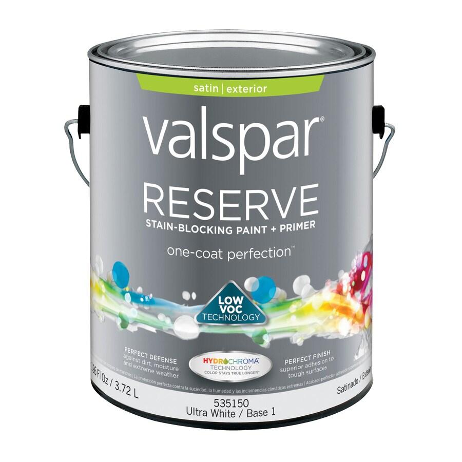 Valspar Reserve Ultra White/Base 1 Satin Exterior Paint (Actual Net Contents: 126-fl oz)