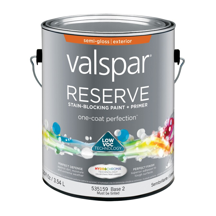 valspar reserve semi gloss exterior paint actual net contents 120 fl. Black Bedroom Furniture Sets. Home Design Ideas