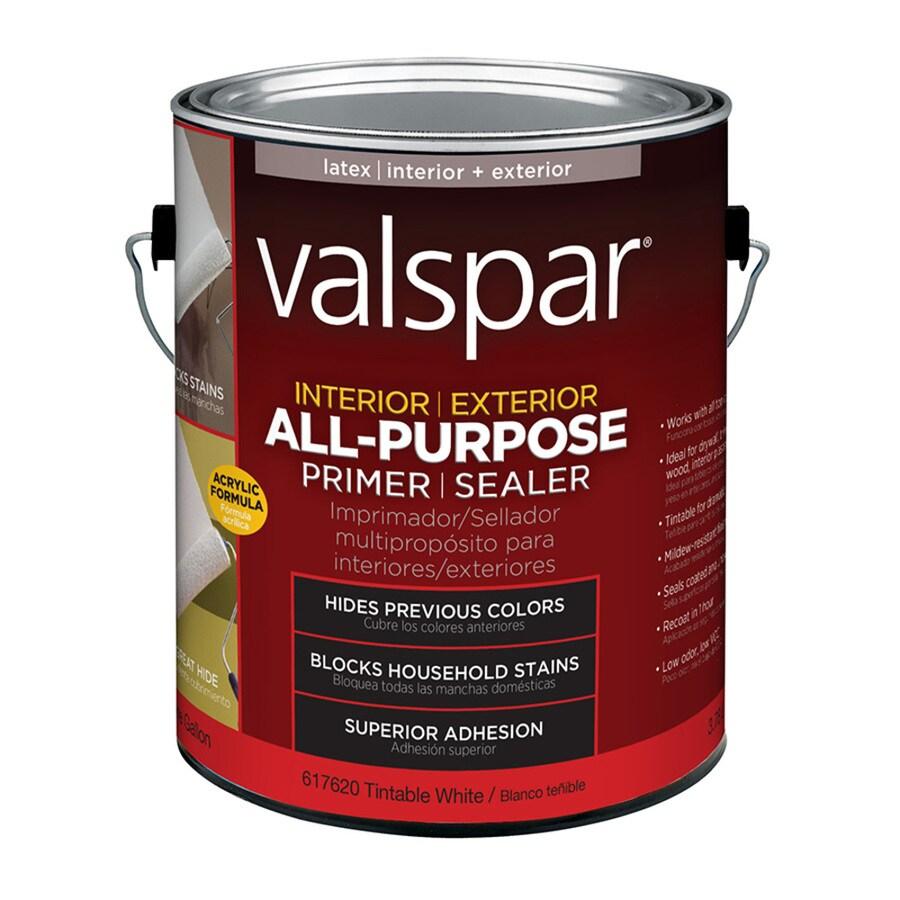 Shop Valspar Interior Latex Primer Actual Net Contents 128 Fl Oz At