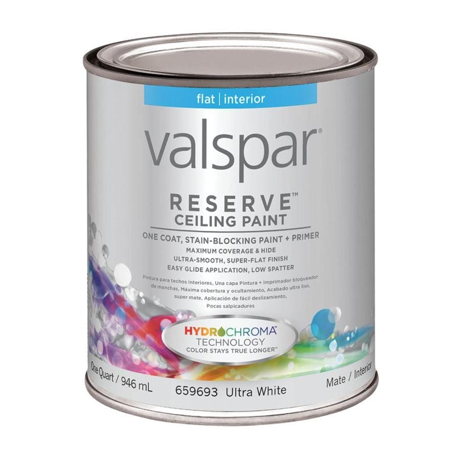 Valspar Reserve Ceiling White Flat Latex Interior Paint and Primer in One (Actual Net Contents: 32-fl oz)