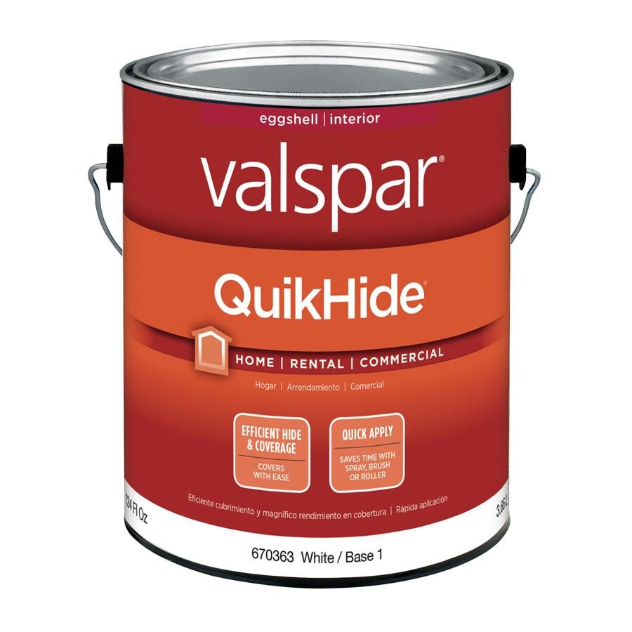 Shop Valspar Quikhide White Eggshell Latex Interior Paint Actual Net Contents 124 Fl Oz At