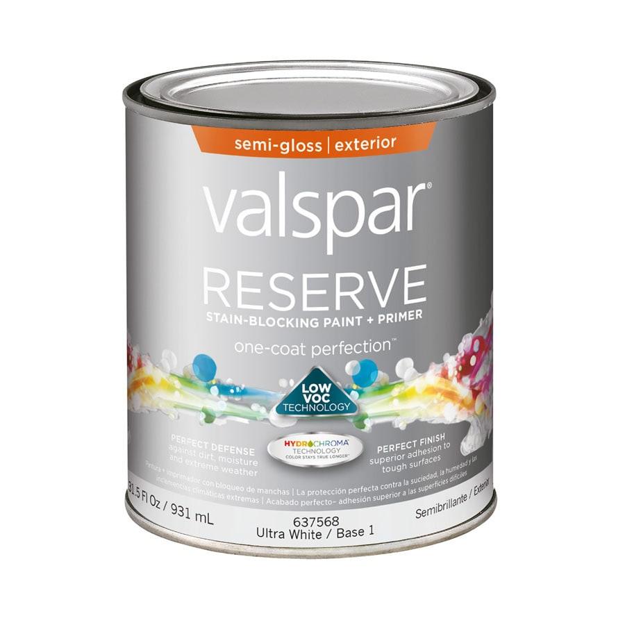 valspar reserve semi gloss latex exterior paint actual net contents. Black Bedroom Furniture Sets. Home Design Ideas