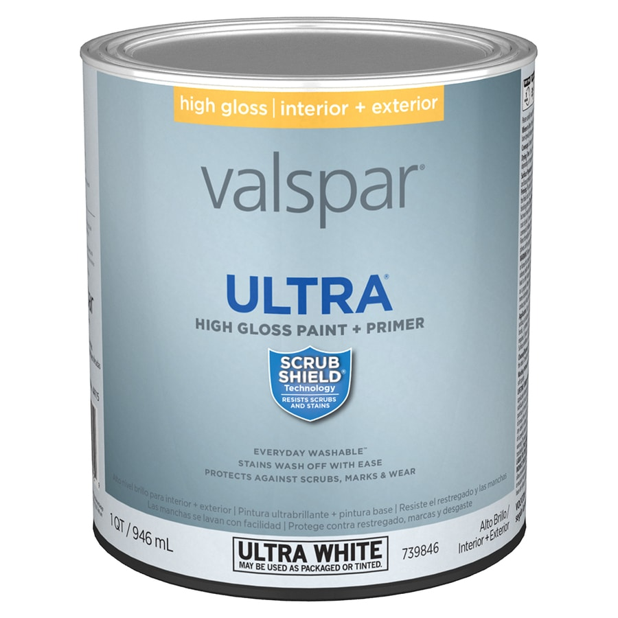 Shop Valspar Gloss Latex Enamel Interior Exterior Paint And Primer In One Actual Net Contents