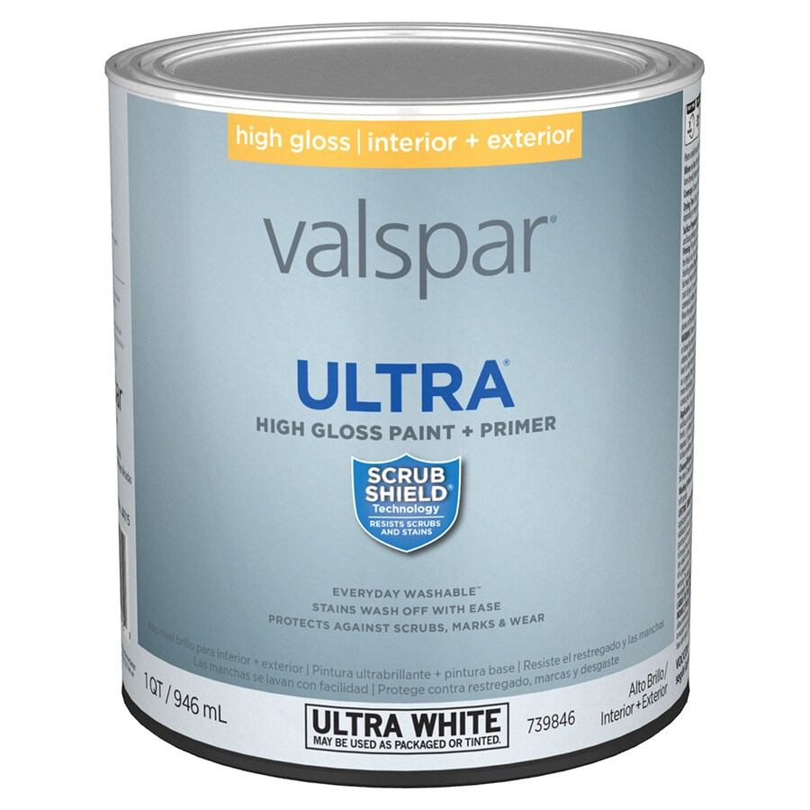 valspar gloss latex enamel interior exterior paint and primer in one. Black Bedroom Furniture Sets. Home Design Ideas