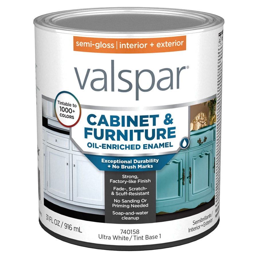 Shop Valspar Cabinet Enamel Semi Gloss Latex Interior Paint Actual Net Contents 31 Fl Oz At