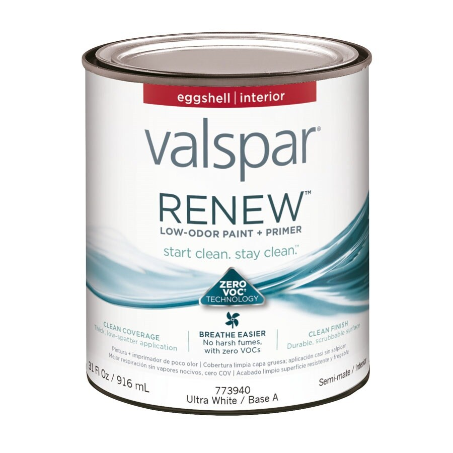 Valspar Renew Eggshell Latex Interior Paint and Primer in One (Actual Net Contents: 31-fl oz)