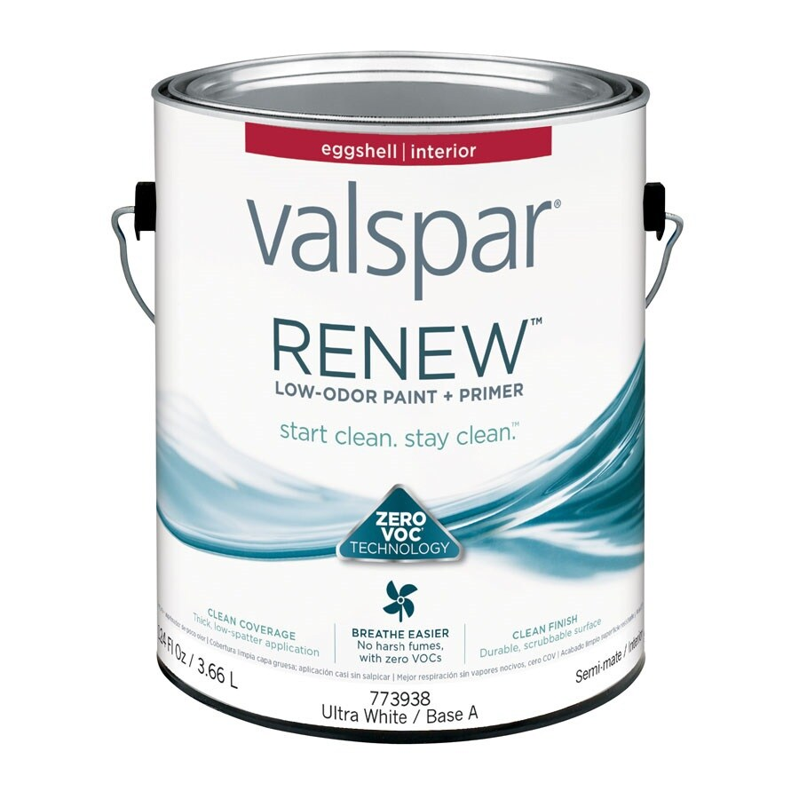 Shop Valspar Renew Eggshell Latex Interior Paint And Primer In One Actual Net Contents 124 Fl