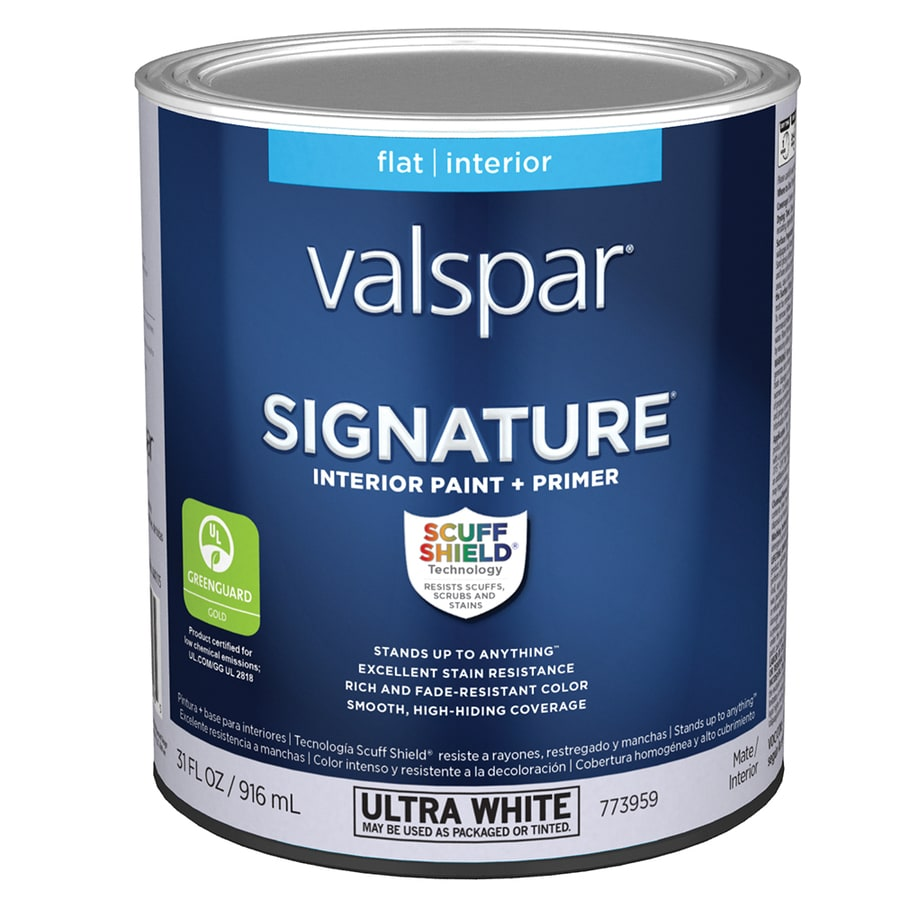 valspar signature flat latex interior paint and primer in one actual. Black Bedroom Furniture Sets. Home Design Ideas