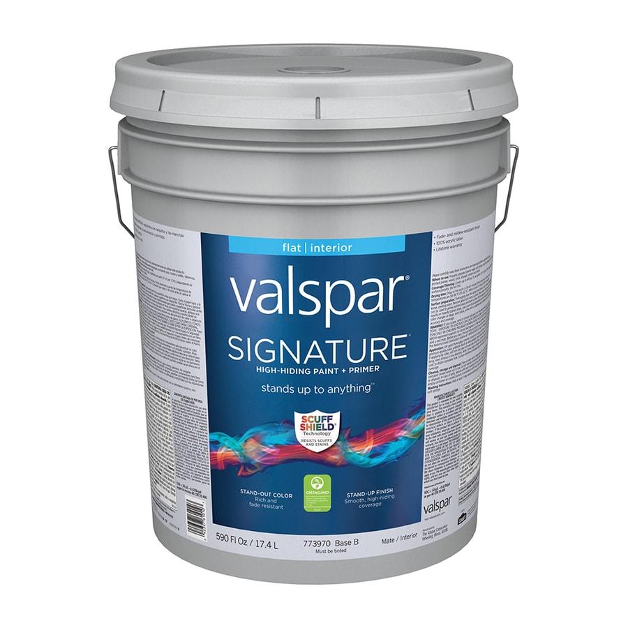 Valspar Signature Flat Latex Interior Paint and Primer in One (Actual Net Contents: 590-fl oz)