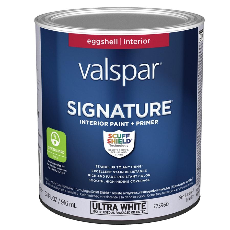 Valspar Signature Eggshell Latex Interior Paint and Primer in One (Actual Net Contents: 31-fl oz)