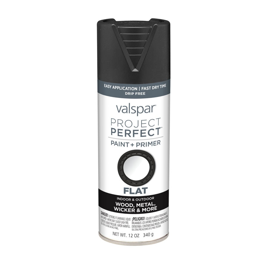 Valspar Project Perfect Black Fade Resistant Enamel Spray Paint (Actual Net Contents: 12-oz)