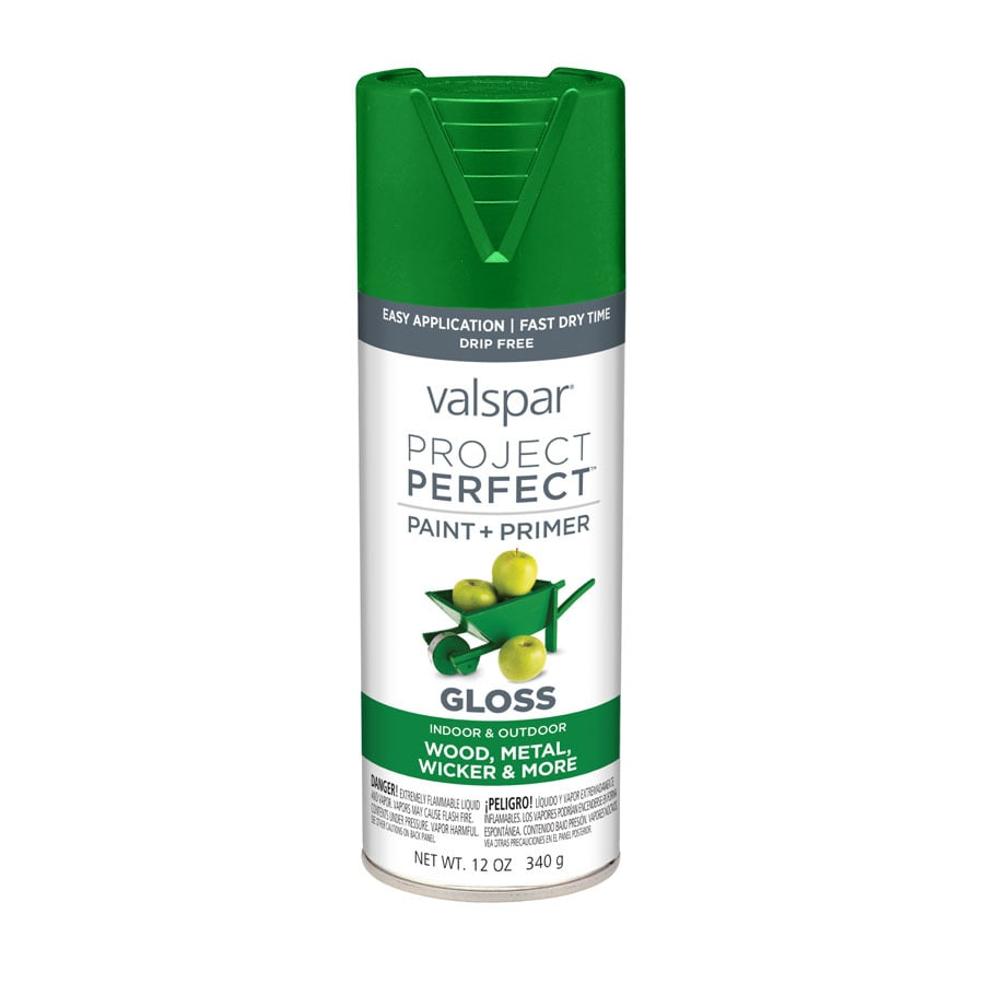 Valspar Project Perfect Luscious Green Fade Resistant Enamel Spray Paint (Actual Net Contents: 12-oz)