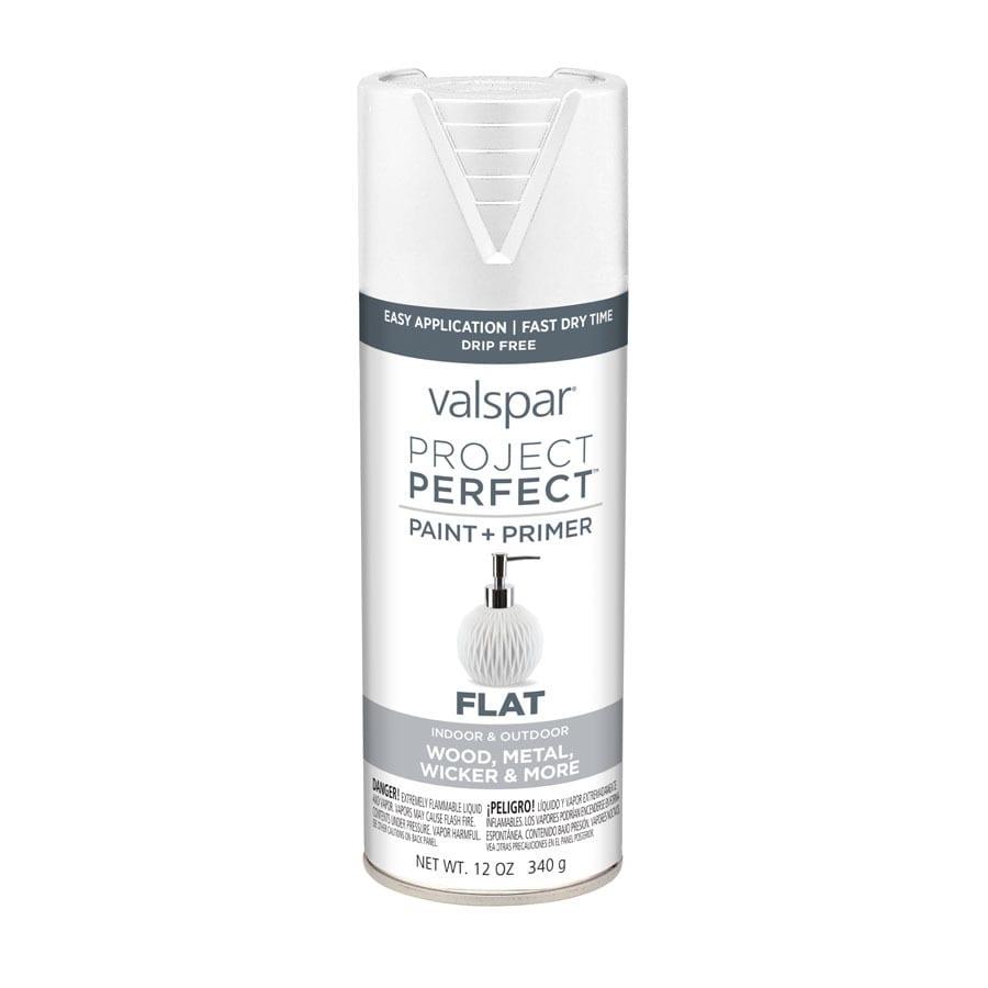 Valspar Project Perfect White Fade Resistant Enamel Spray Paint (Actual Net Contents: 12-oz)