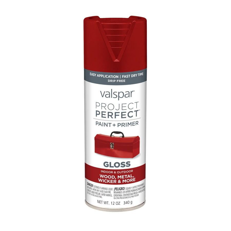 Valspar Project Perfect Cut Ruby Fade Resistant Enamel Spray Paint (Actual Net Contents: 12-oz)