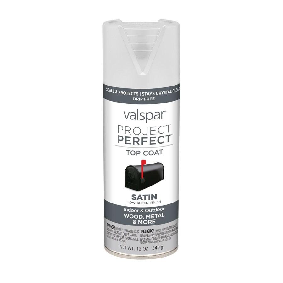 Valspar Project Perfect Clear Fade Resistant Enamel Spray Paint (Actual Net Contents: 12-oz)