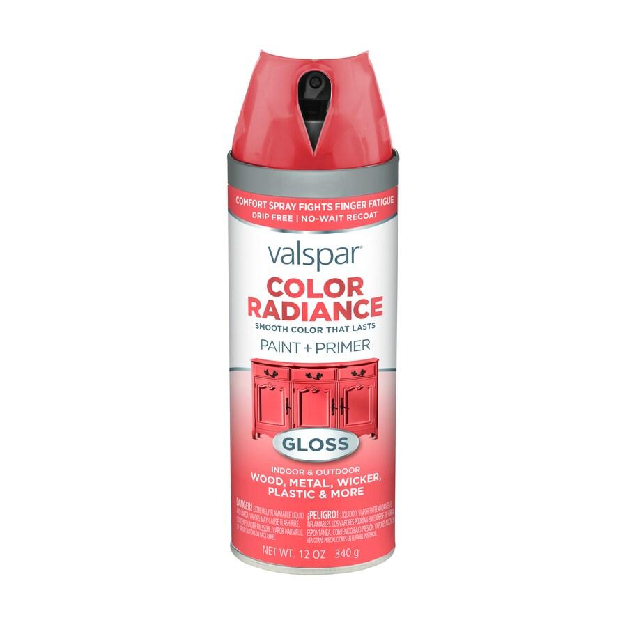 Valspar Color Radiance Flamenco Pink Fade Resistant Enamel Spray Paint (Actual Net Contents: 12-oz)
