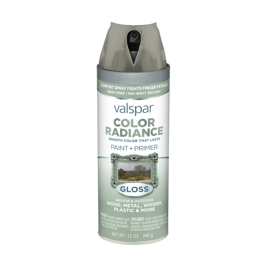 Shop Valspar Color Radiance Hazy Stratus Fade Resistant Enamel Spray Paint Actual Net Contents