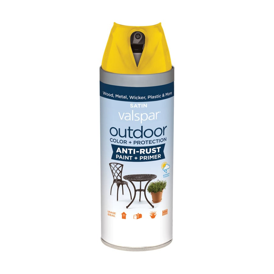 Shop Valspar Outdoor Bright Yellow Fade Resistant Enamel Spray Paint Actual Net Contents 12 Oz