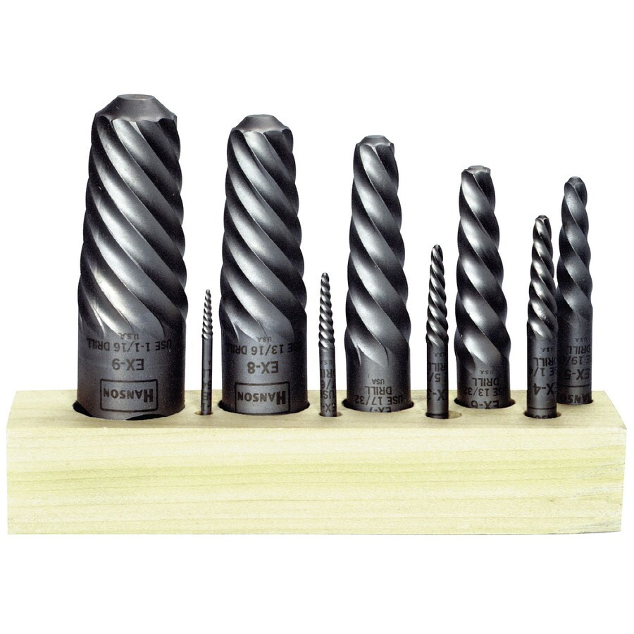 IRWIN Irwin Hanson 9Pc Spiral Extractor Set