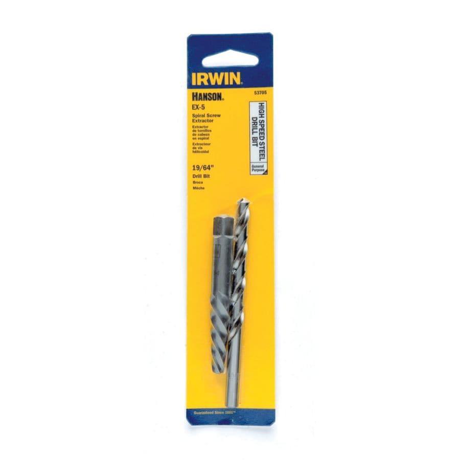 IRWIN Hanson Ex-5 Screw Extractor and 19/64 In Bit Combo