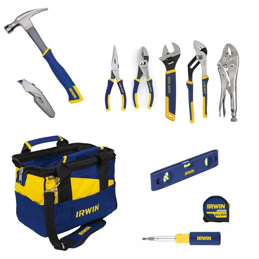 IRWIN 11-Piece Household Tool Set with Soft Case
