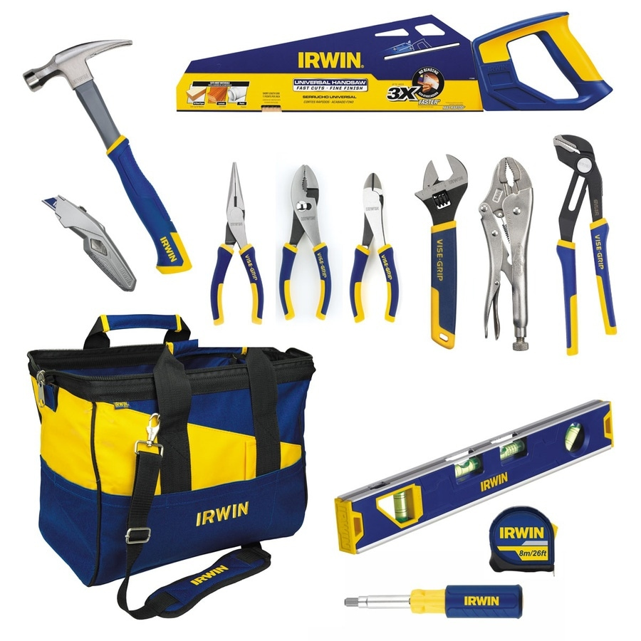 Shop irwin 13 piece household tool set with soft case at - Household tools ...