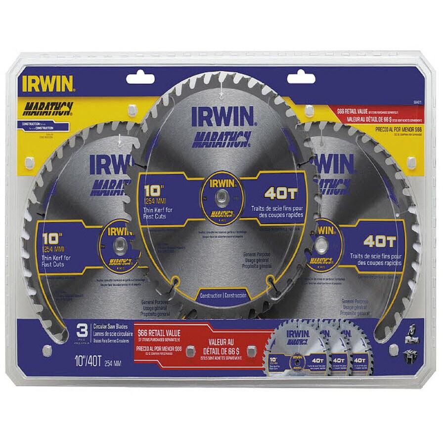 IRWIN Marathon 10-in 40-Tooth Carbide Circular Saw Blade