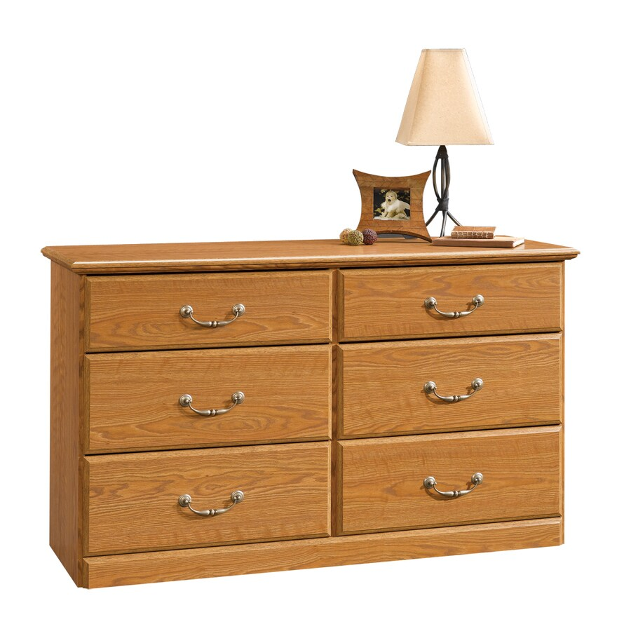 Shop Sauder Orchard Hills Carolina Oak 6 Drawer Dresser At