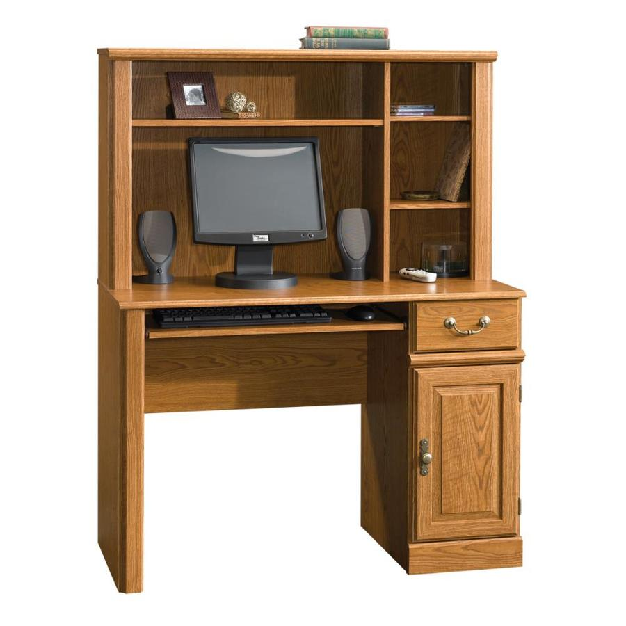 Shop Sauder Orchard Hills Carolina Oak Computer Desk at ...