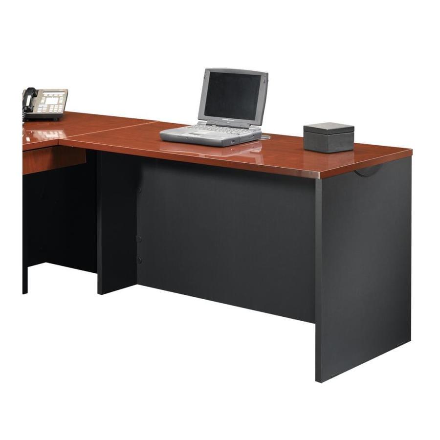 Sauder Via Classic Cherry/Soft Black Executive Desk