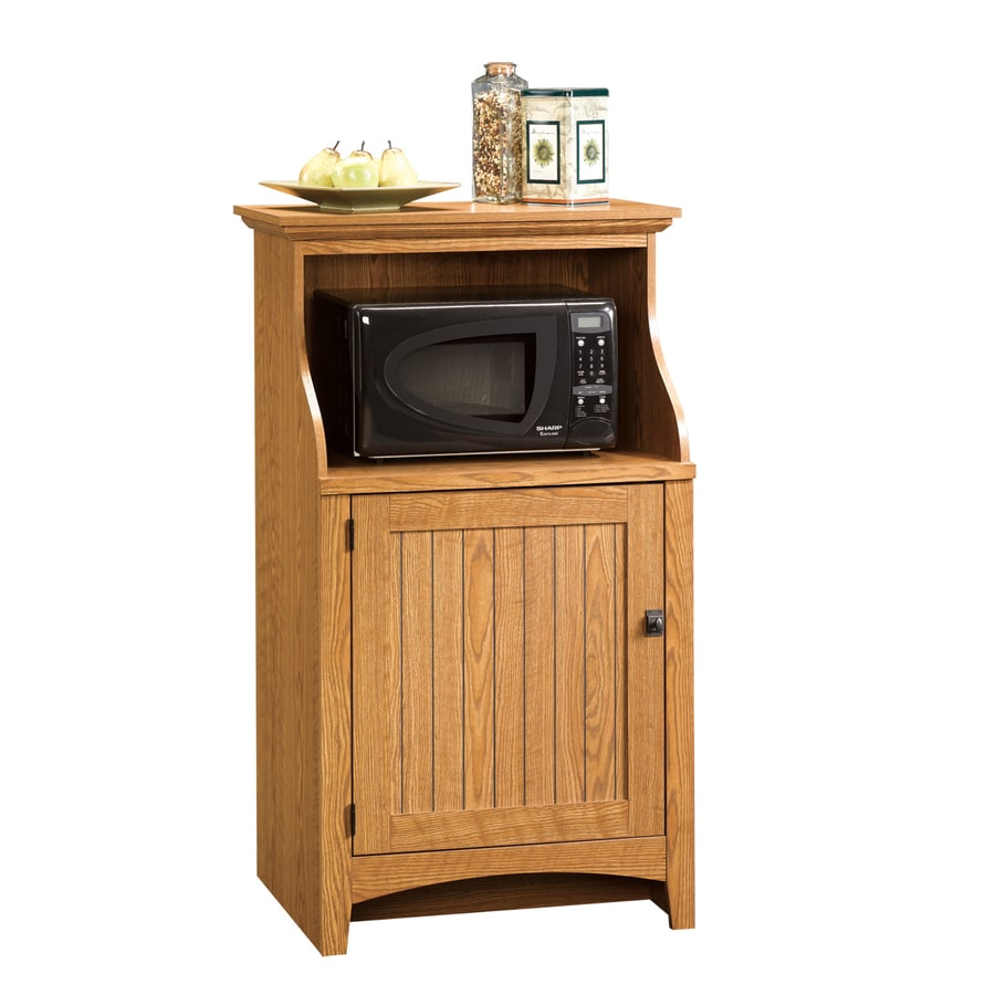 Shop sauder summer home carolina oak 3 shelf office cabinet at lowes