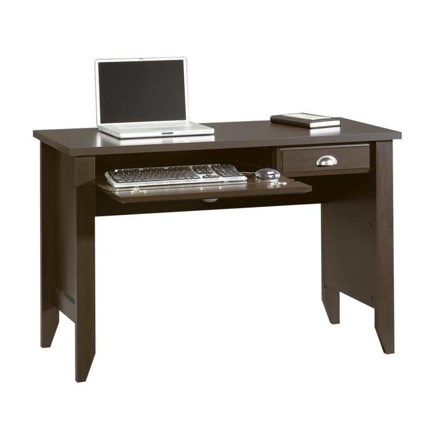 shop sauder shoal creek jamocha wood computer desk at lowes