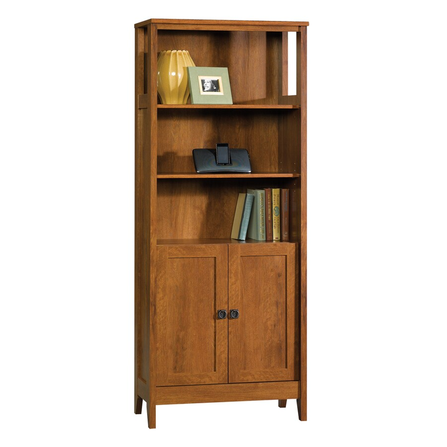 Sauder August Hill Oiled Oak 71.875-in 5-Shelf Bookcase