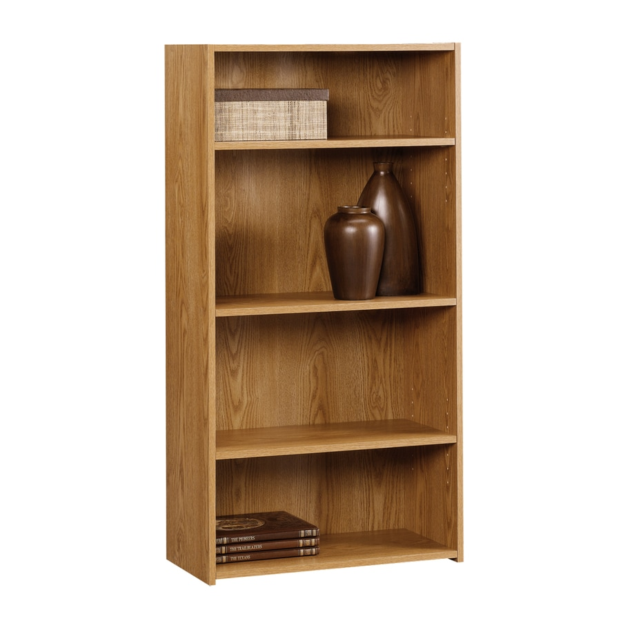 "Sauder Beginnings Oregon Oak 47-1/8"" 4-Shelf Bookcase"