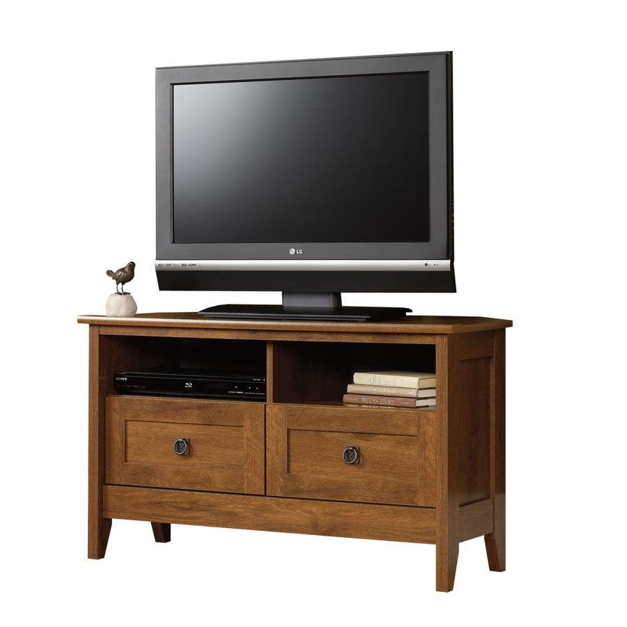 shop sauder august hill oiled oak corner corner television. Black Bedroom Furniture Sets. Home Design Ideas