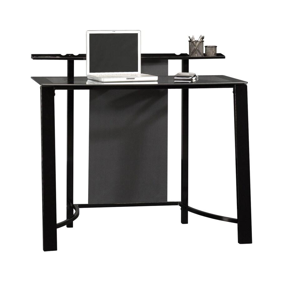 Sauder Mirage Black/Clear Glass Laptop Desk Desk