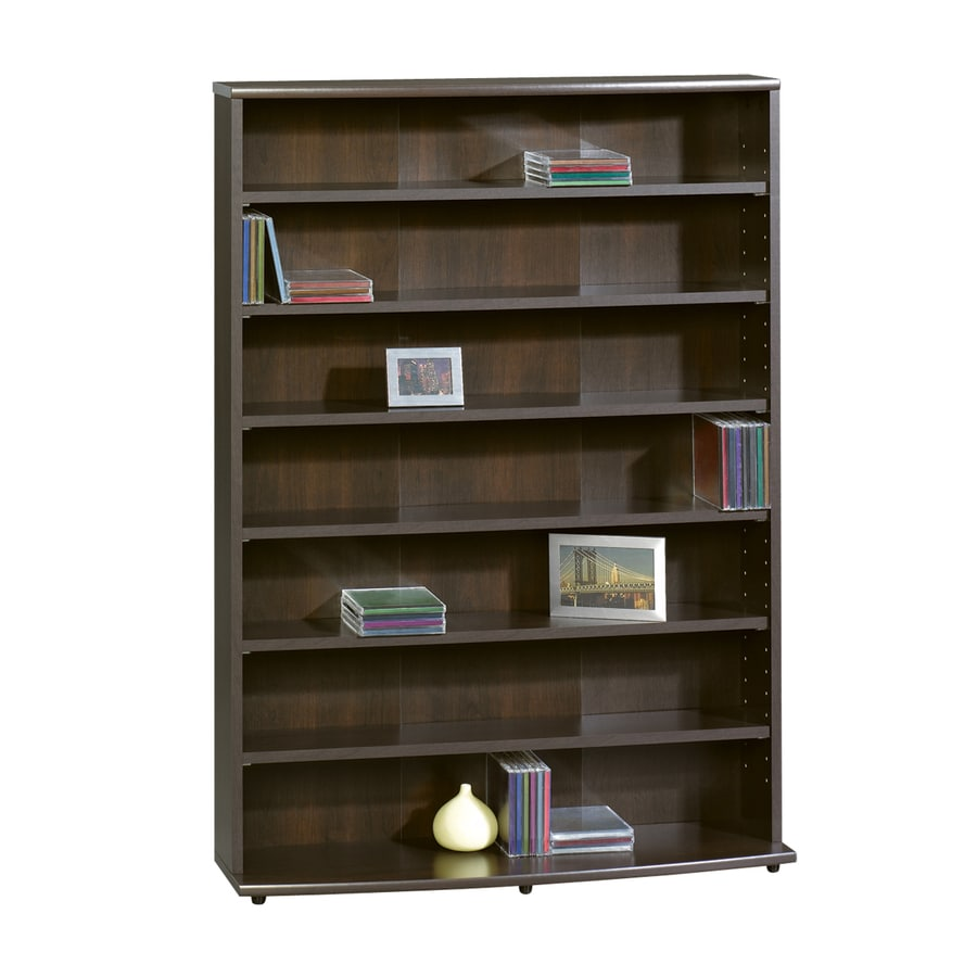 Shop sauder cinnamon cherry 7 shelf office cabinet at for Off the shelf cabinets