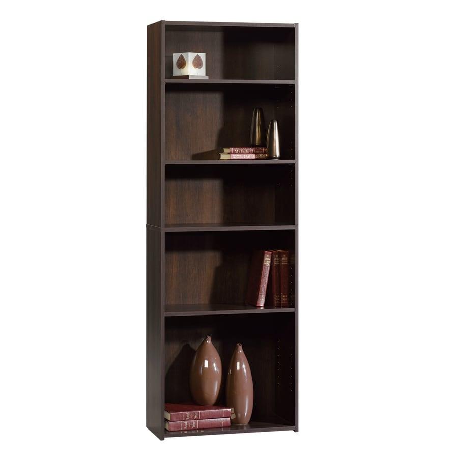 Sauder Beginnings Cinnamon Cherry 71.125-in 5-Shelf Bookcase