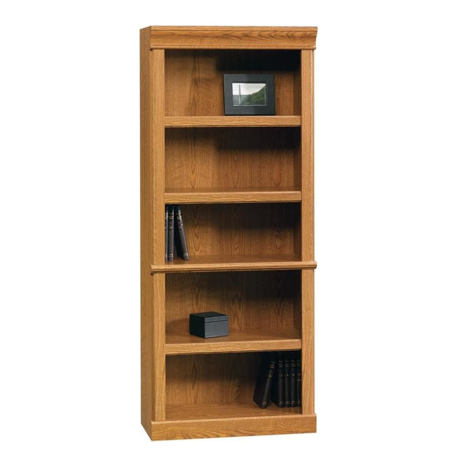 Sauder Orchard Hills Carolina Oak 29.5-in W x 71.5-in H x 13.5-in D 5-Shelf Bookcase