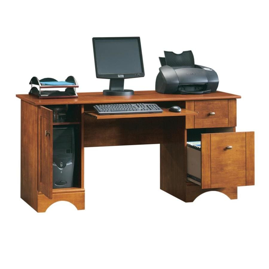 Shop Sauder Brushed Maple Computer Desk At Lowes Com