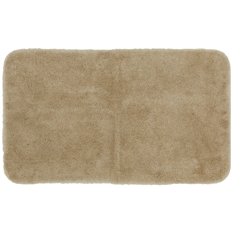 Mohawk Home Regency 40-in x 24-in Sand Nylon Bath Mat