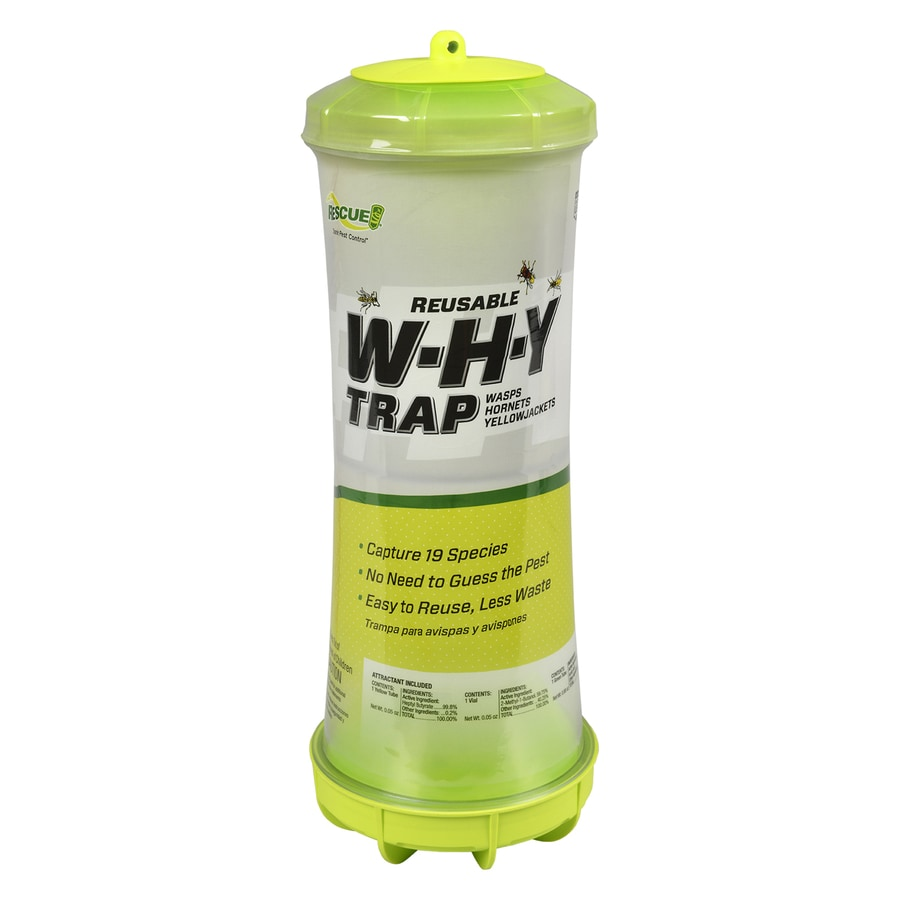 RESCUE! Reusable WHY Trap for Wasps/Hornets/Yellowjackets