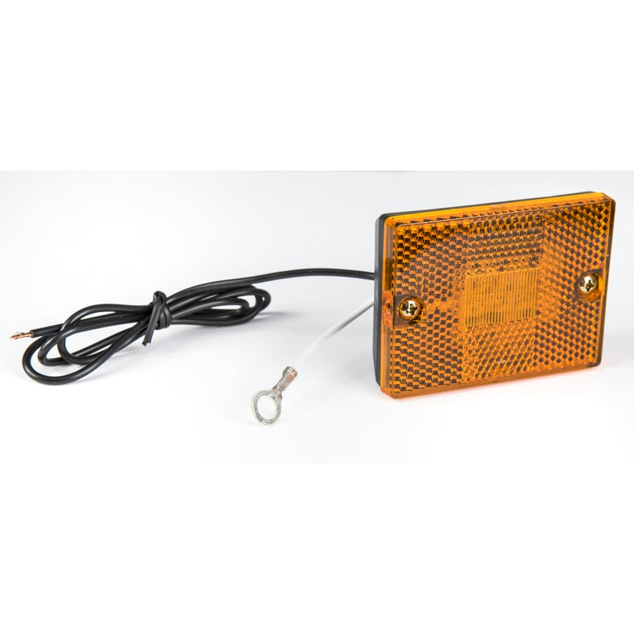 Reese 6P LED Rectangular Sealed Marker with Reflector, Amber