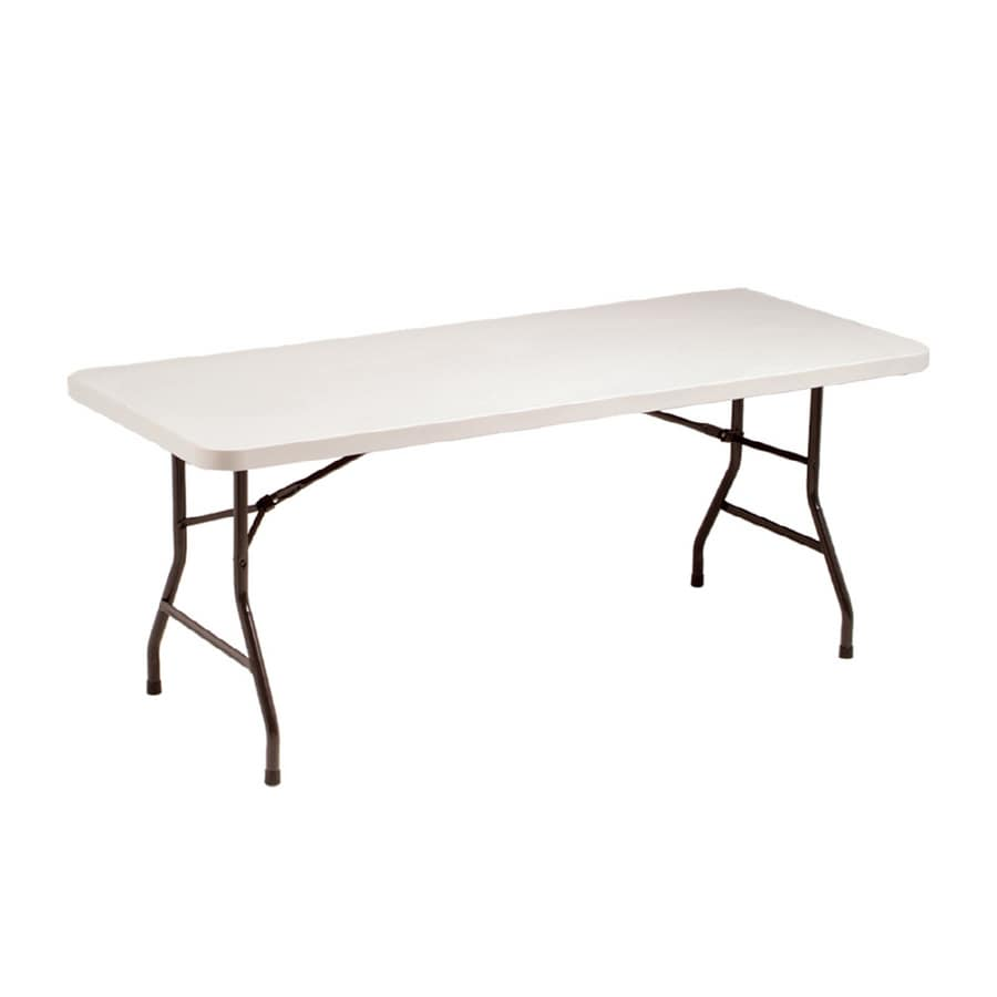 Style Selections 72-in x 30-in Rectangle Steel Mocha Powder Coat Folding Table