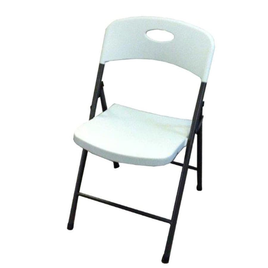 Style Selections Indoor/Outdoor Steel Standard Folding Chair