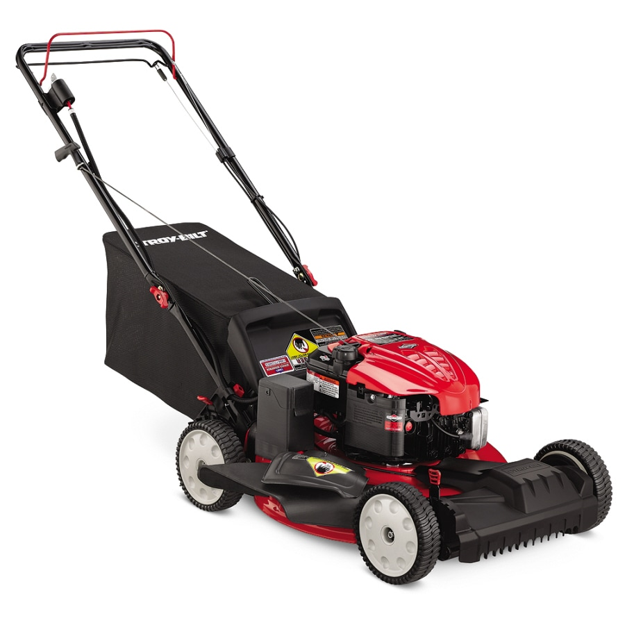 Troy-Bilt 190-cc 21-in Key Start Self-Propelled Front Wheel Drive 3-in-1 Gas Lawn Mower with Mulching Capability
