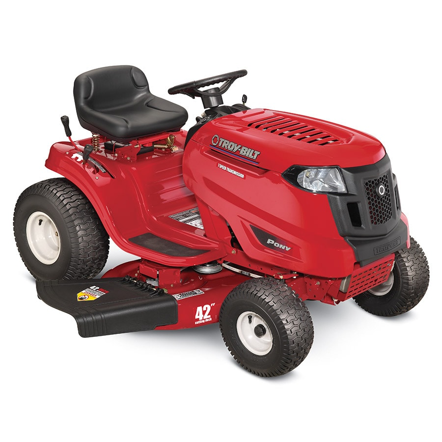 Troy-Bilt Pony 17.5-HP Manual/Gear 42-in Riding Lawn Mower with Briggs & Stratton Engine